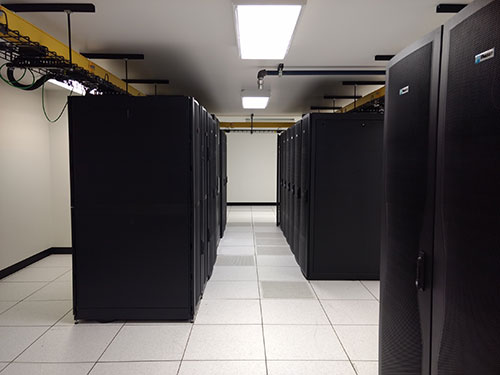 Colocation server racks providing data recovery services